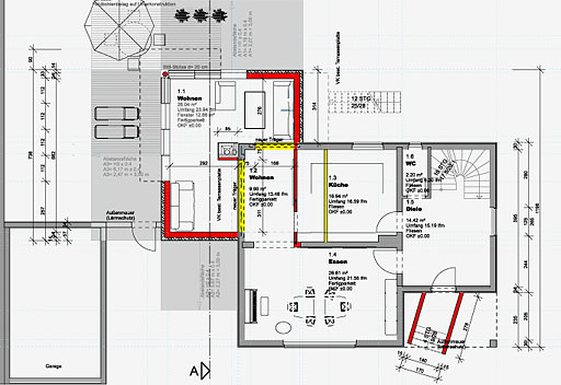 Anbau wohnhaus tzk 2007 zukunftssysteme etzemueller for Wohnhaus grundriss